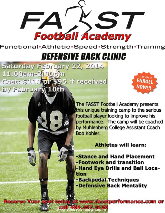 Defensive Back Camp 2014